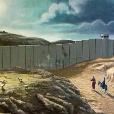 Josef & Maria voor de muur.